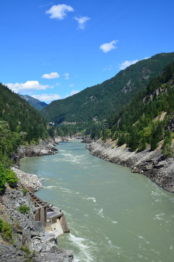 Hell`s gate. Picture of the River and Mountains taken from Hell`s Gate royalty free stock photography
