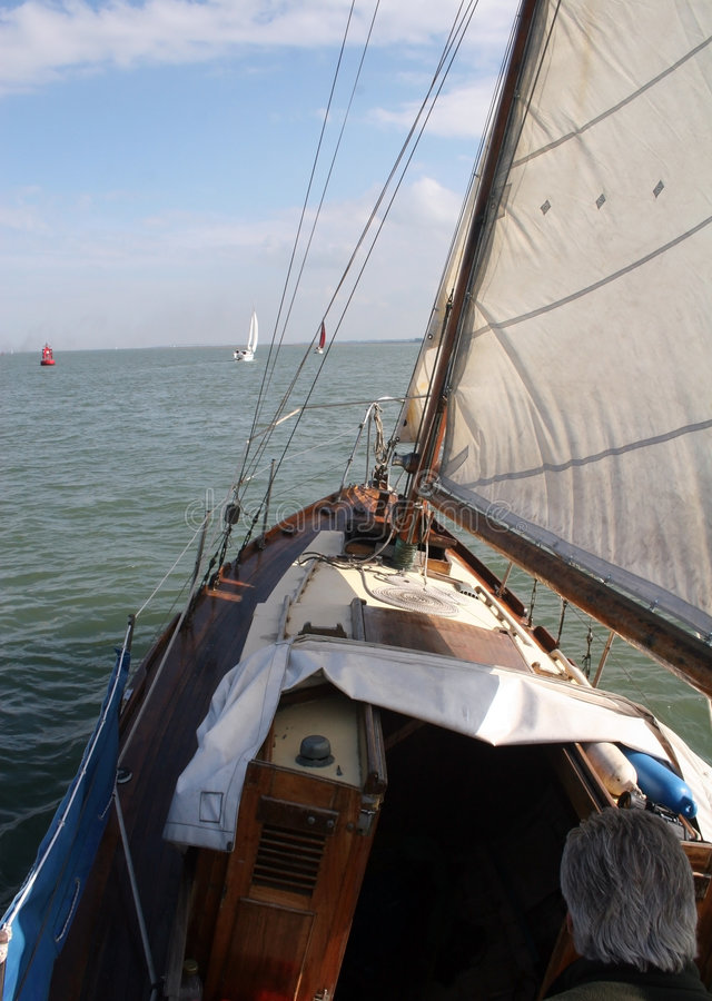 Download At the helm stock image. Image of sailing, wood, east - 1346115
