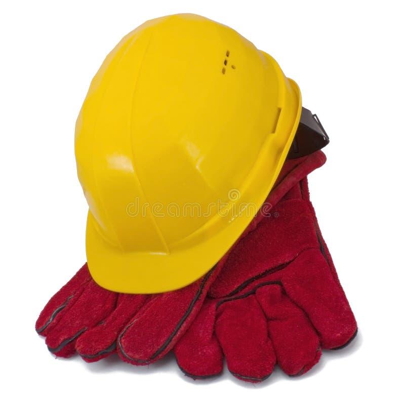 Helm en handschoenen stock afbeelding