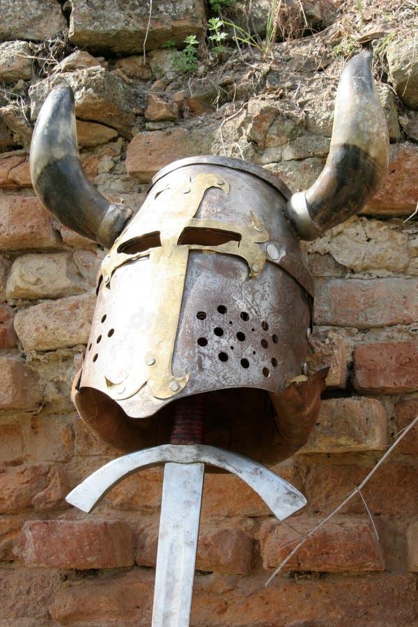 Helm En Zwaard Stock Foto's