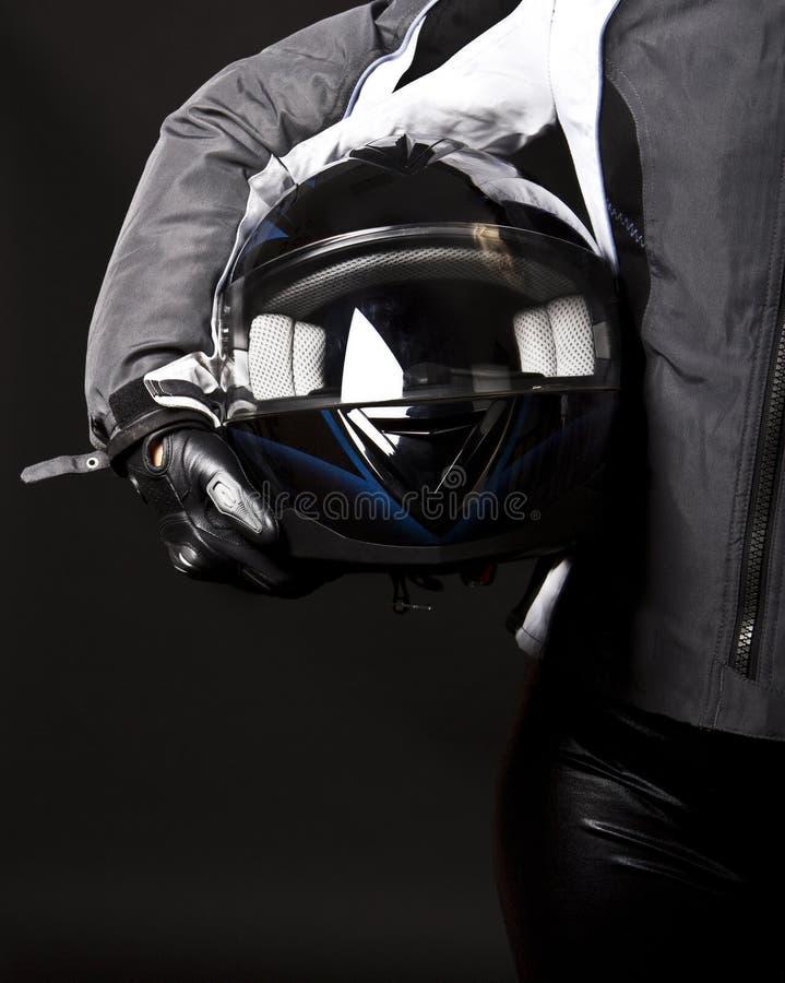 Helm in handen stock fotografie