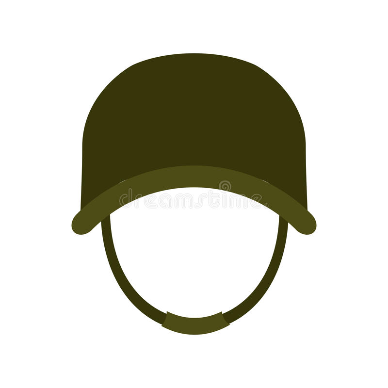 Helm, het beeld van het militaire uitrustingpictogram vector illustratie
