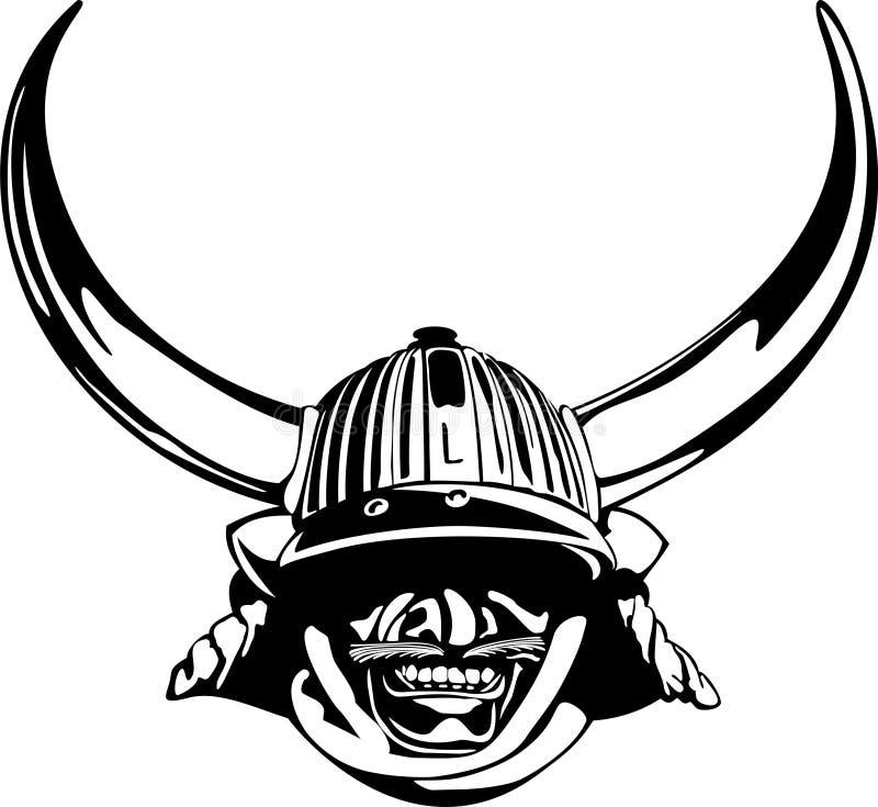 Helm van de samoeraien royalty-vrije stock afbeeldingen