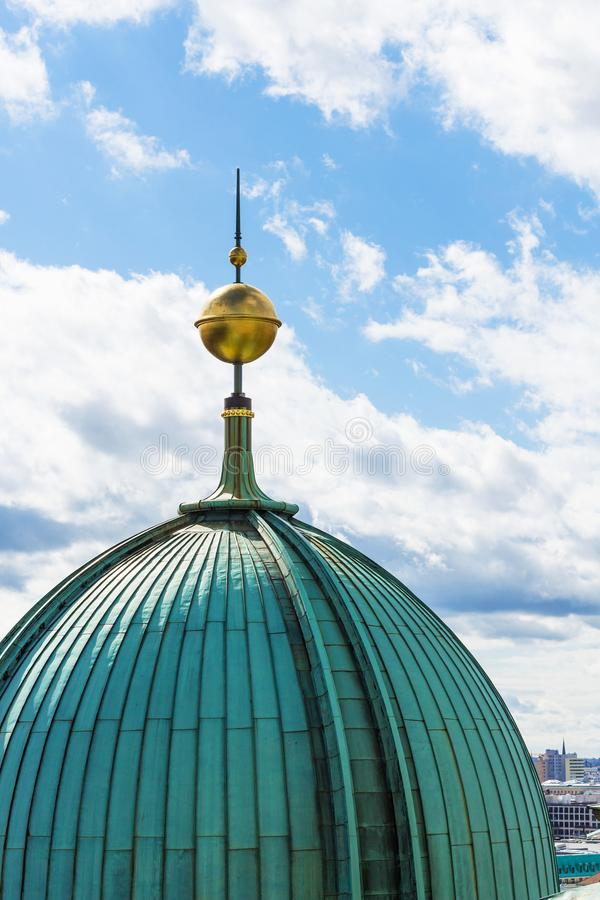 Helm von Berlin Cathedral Berliner Dom stockfotografie