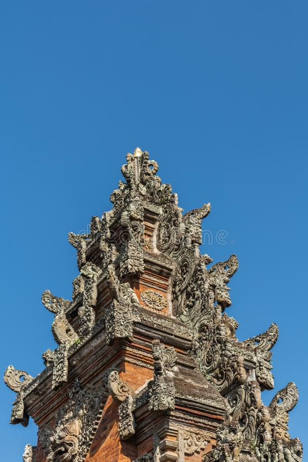Helm von Kori Agung an Batuan-Tempel, Ubud, Bali Indonesien lizenzfreies stockbild