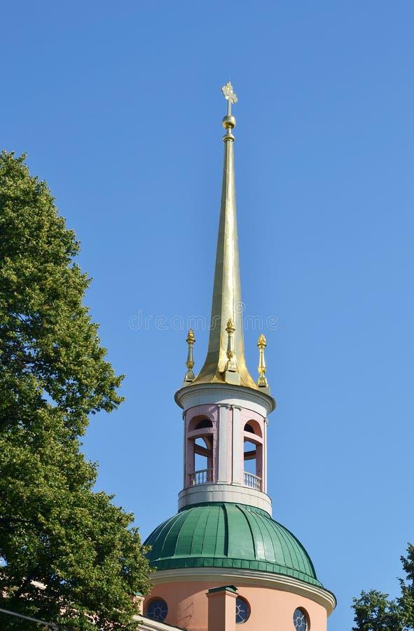 Helm von Mikhailovsky-Schloss stockbild
