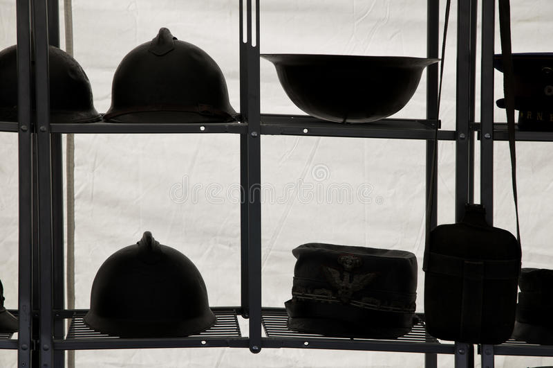 Helmen royalty-vrije stock afbeelding