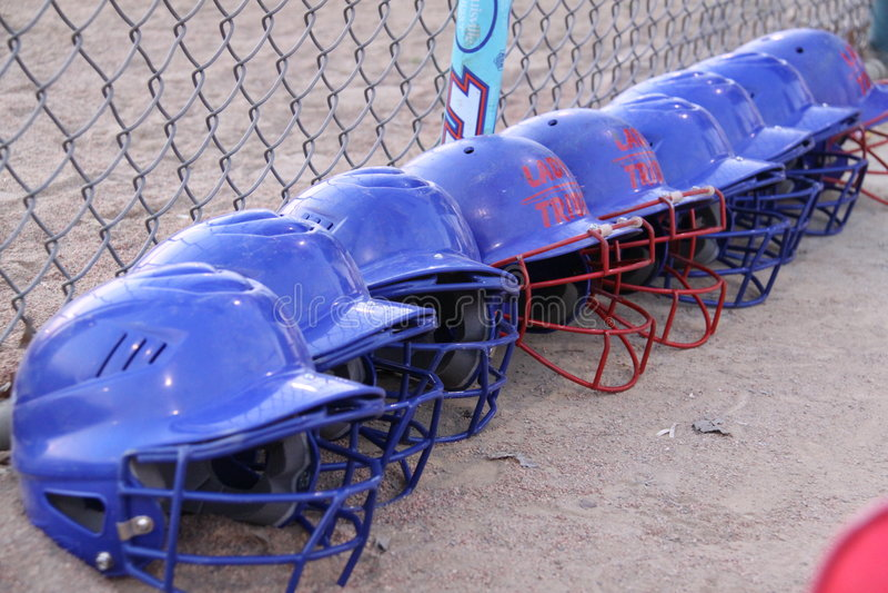 helments softball zdjęcia stock