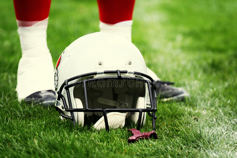 Helmet - American football stock photography
