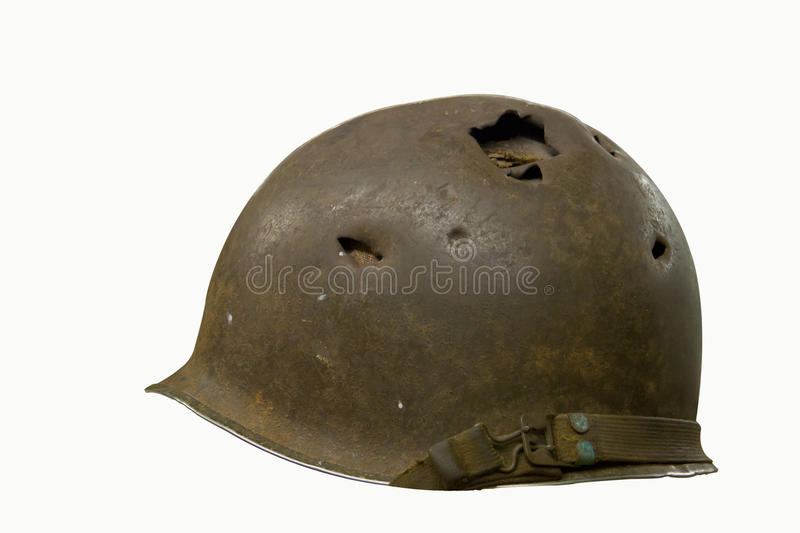 Download Helmet With Bullet Holes Stock Image - Image: 27475311