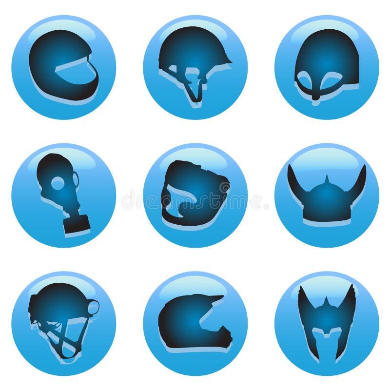 Download Helmet buttons stock vector. Image of helmet, construction - 18366566