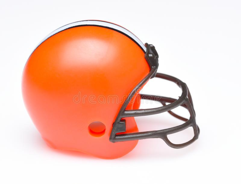 Helmet for the Cleveland Browns royalty free stock photo
