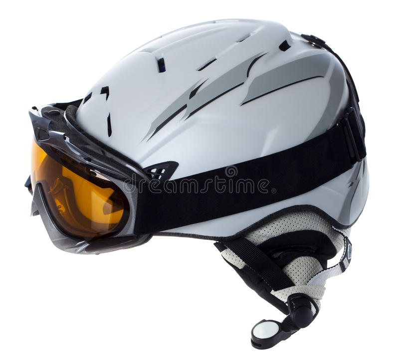 Download Helmet and goggles skier stock photo. Image of protective - 22373170