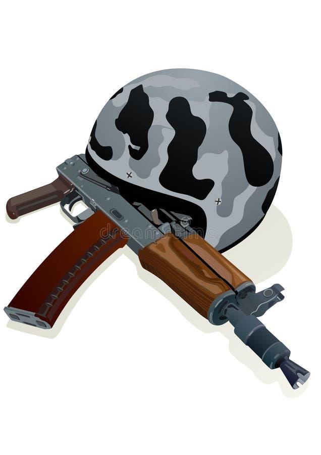 Helmet and gun stock photography