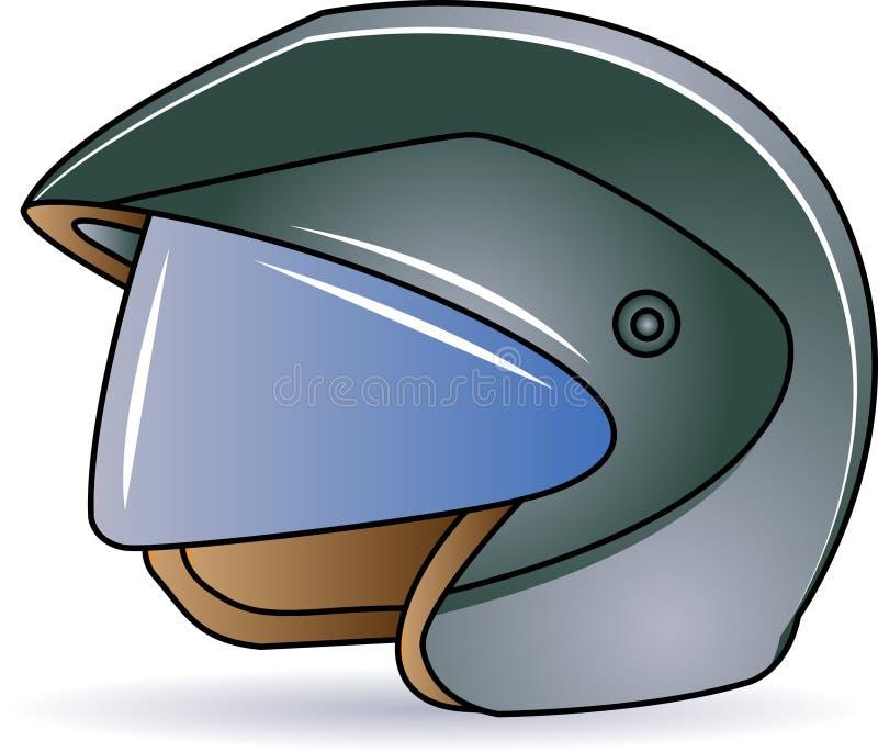 Helmet. Illustrated isolated helmet clip art image royalty free illustration