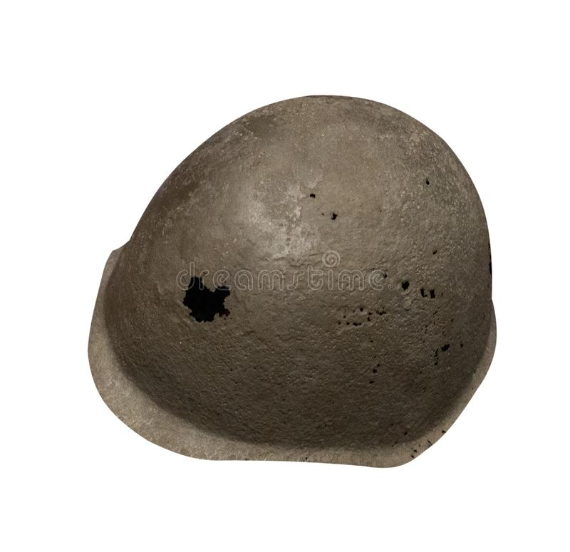 Helmet isolated on white background. helmet of the Second World War stock images