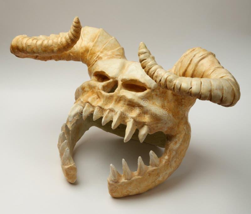 Helmet of the skull monster stock photos