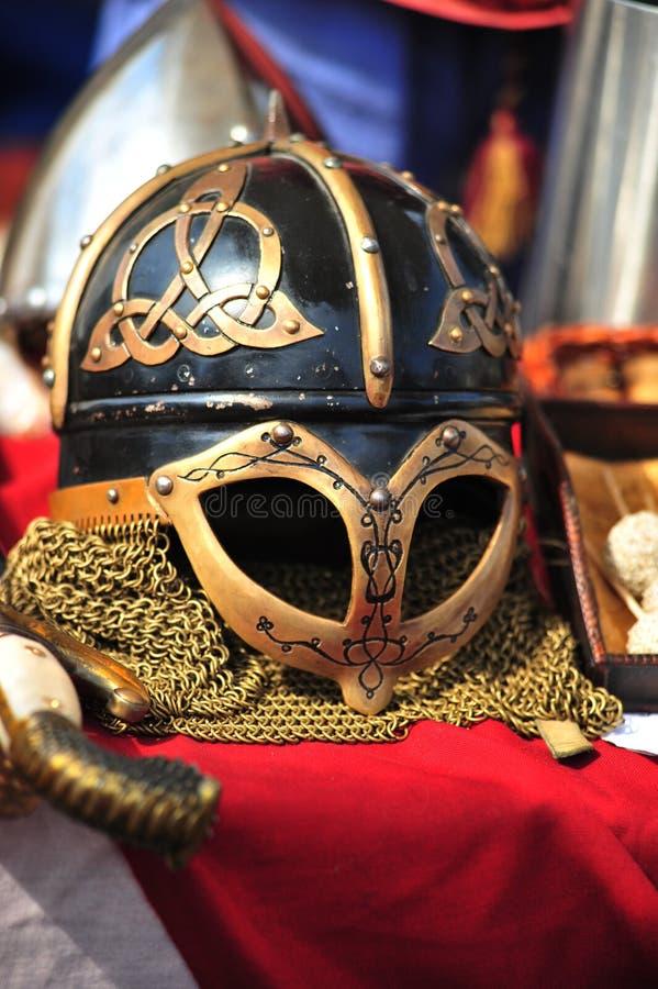 Download Helmet of Vikings stock photo. Image of chain, medieval - 14332748