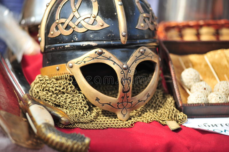 Helmet Of Vikings Stock Photos