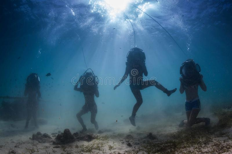 Download Helmet walking stock photo. Image of reef, life, diver - 28149992