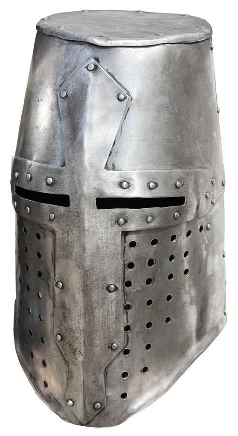 Helmet1 van de middeleeuwse ridder stock afbeelding