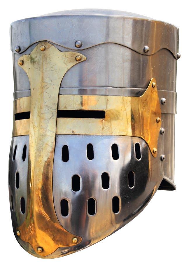 Helmet3 van de middeleeuwse ridder stock fotografie