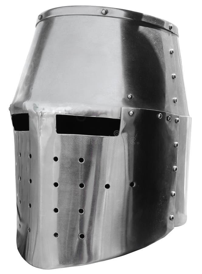 Helmet4 van de middeleeuwse ridder stock afbeelding