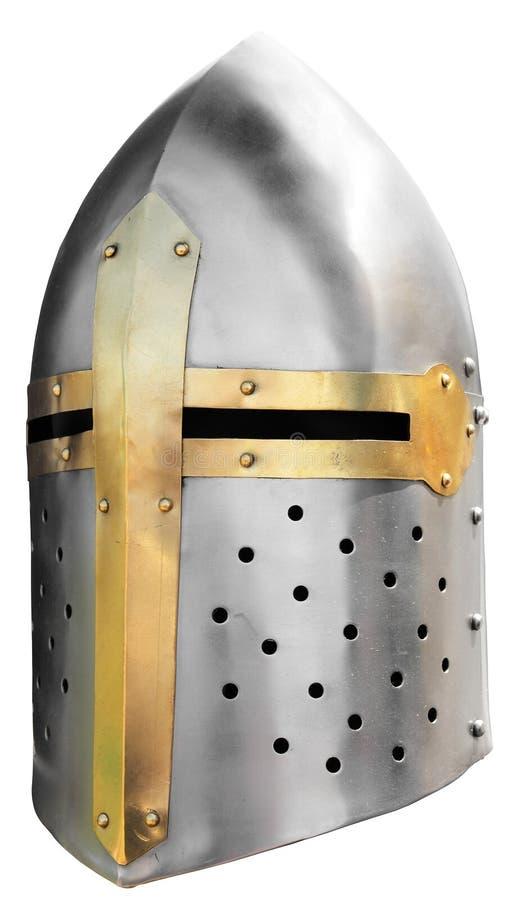 Helmet5 van de middeleeuwse ridder stock afbeeldingen