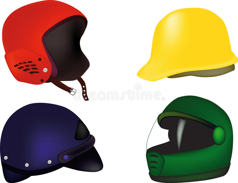 Download Helmets for stock vector. Illustration of isolated, building - 12723896