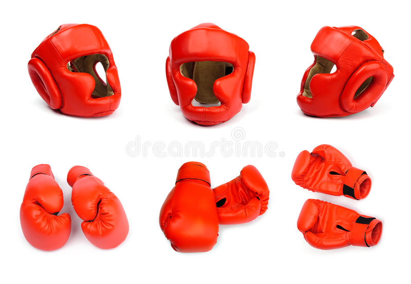 Helmets and gloves royalty free stock images
