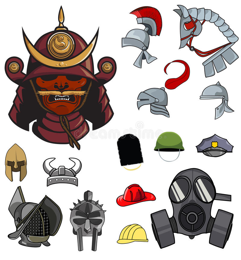 Helmets stock illustration