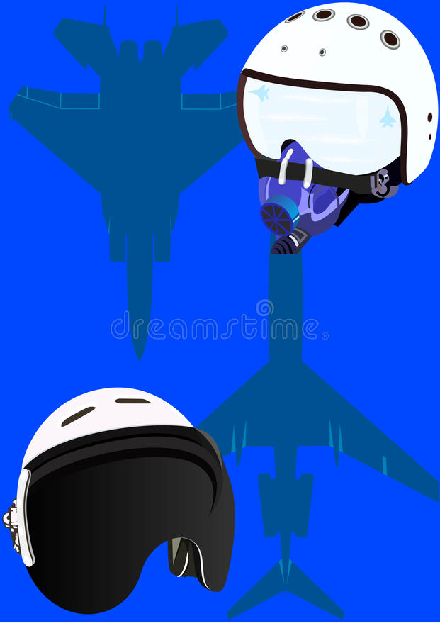 Download Helmets pilots stock illustration. Image of background - 17566068