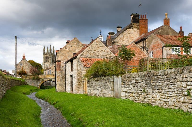 Helmsley - городок в Англии - северный Йоркшир стоковое фото rf