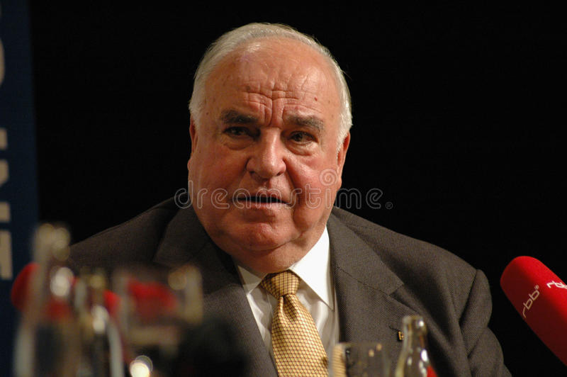 Helmut Kohl fotografia de stock