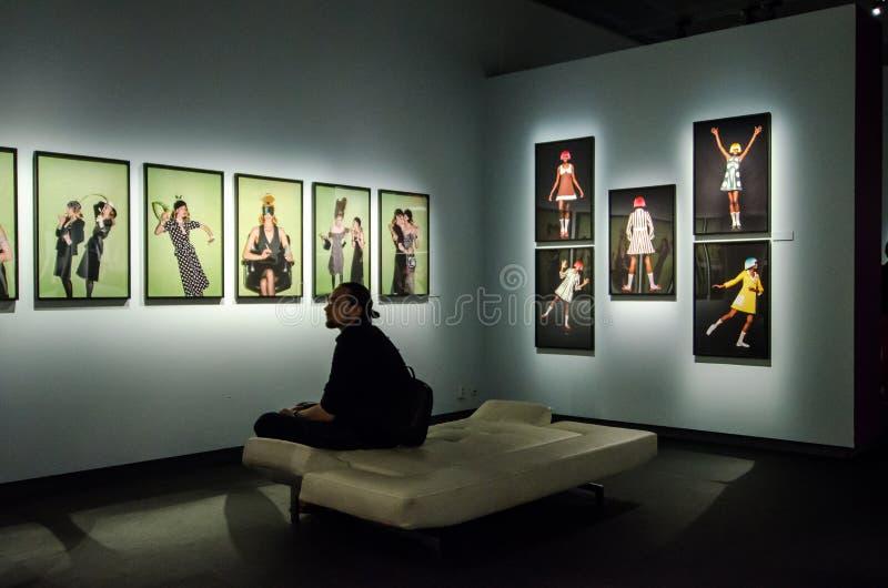 Helmut Newton fotografii exbition przy Sztokholm zdjęcie royalty free