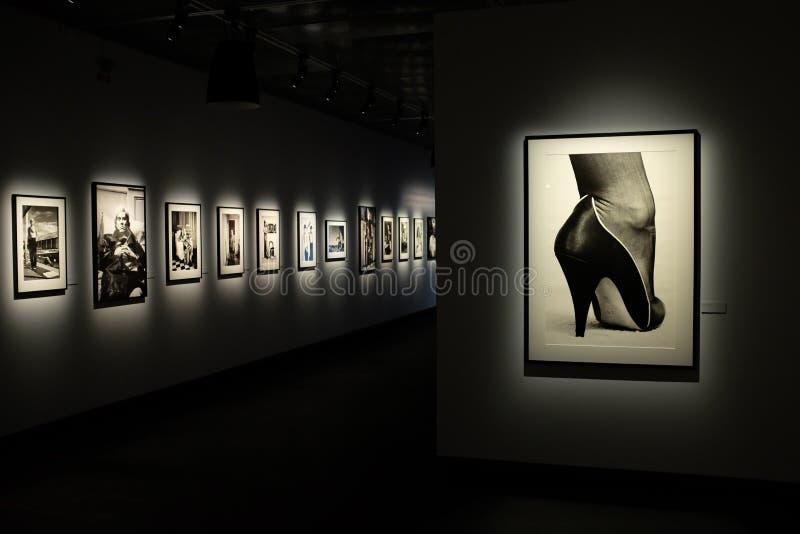 Helmut Newton wystawa w Sztokholm fotografia stock