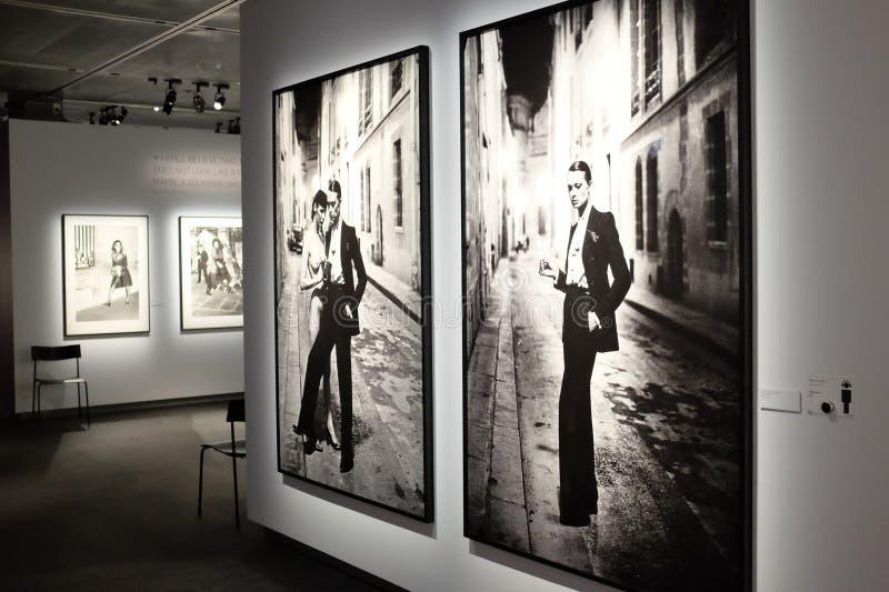 Helmut Newton wystawa w Sztokholm obraz stock