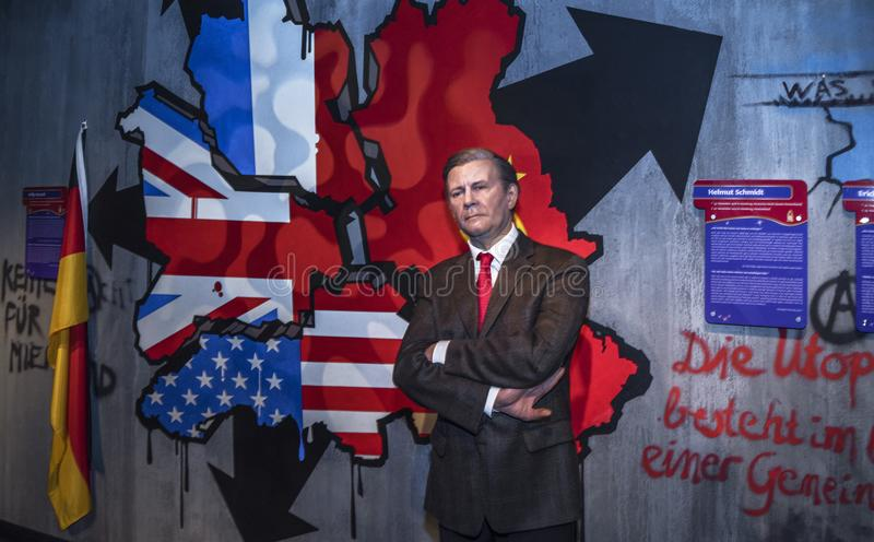 Helmut Schmidt wosku postać zdjęcia stock