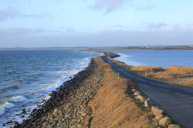 Helnaes Dam on Funen Island, Denmark stock photos