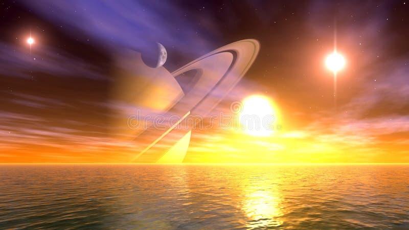 helosplanetscape vektor illustrationer