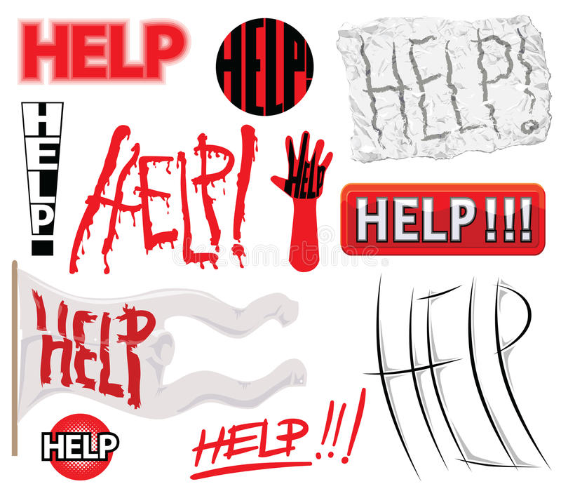 Download Help stock vector. Image of design, circle, scar, icons - 9953046