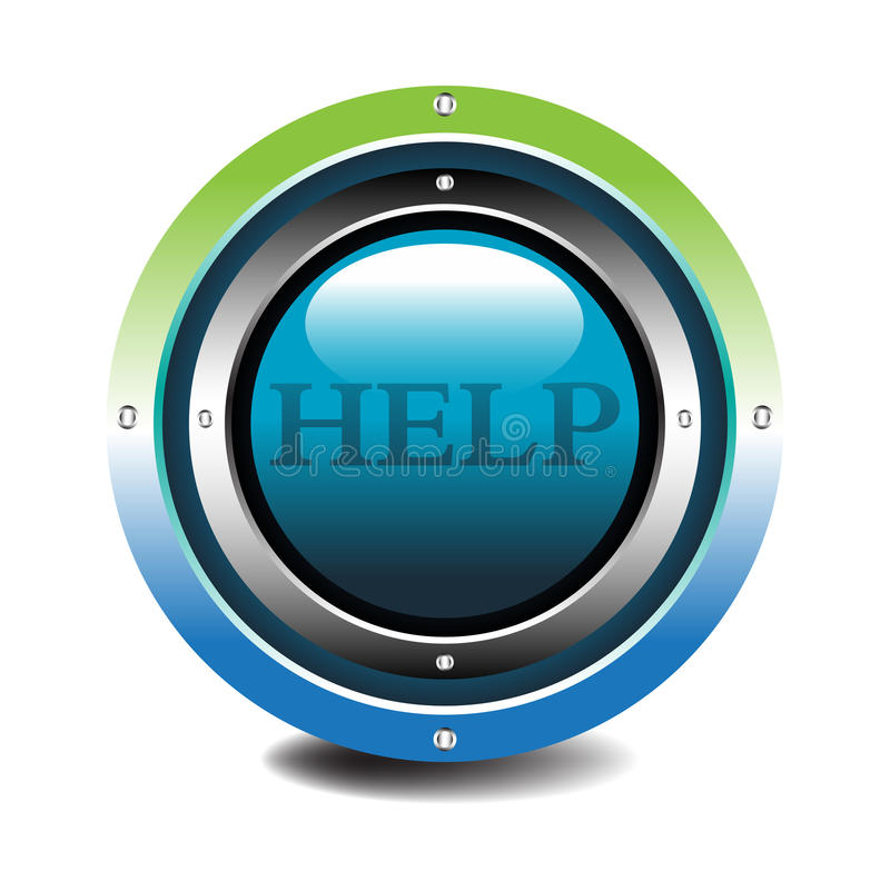 Download Help button stock vector. Illustration of control, police - 13944997