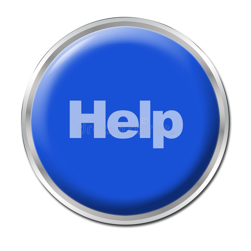 Download Help Button stock illustration. Image of blue, emergency - 5642404