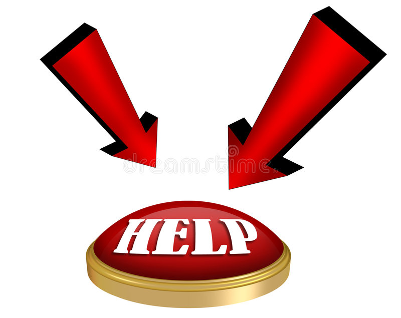 Help Button Graphic Stock Photography