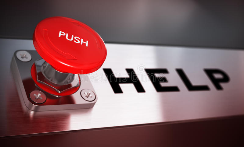 Help Button Concept Royalty Free Stock Photo