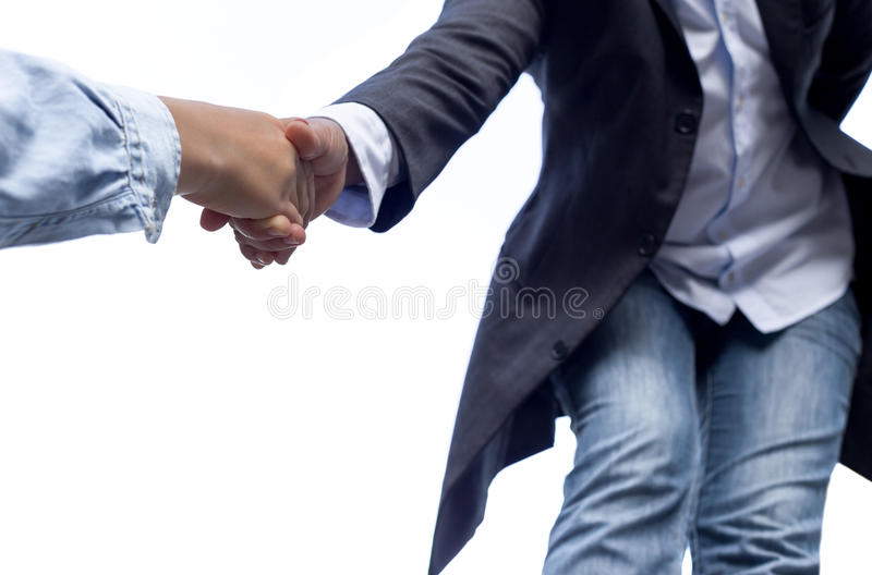 Help concept hand reaching out helping someone isolated royalty free stock photo