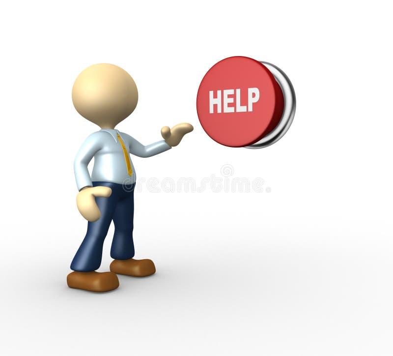 Help royalty free illustration
