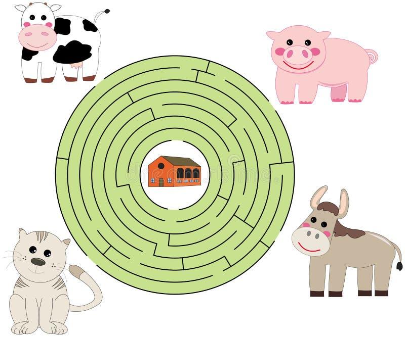Help de dieren stock illustratie