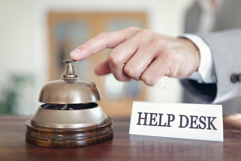 Help desk assistance service bell stock photo