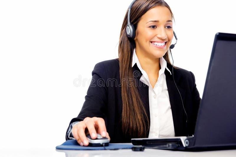 Help desk call center stock photo